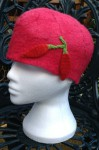 Wet Felted Cloche Hat
