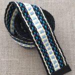 Hand Woven Organic Cotton Blue Sash Belt