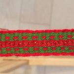 Christmas Red Soarkle Woven Band