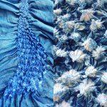 Indigo Shibori Linen and Silk
