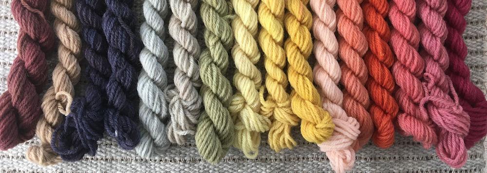 Plant Dyed Rya Rug Yarns