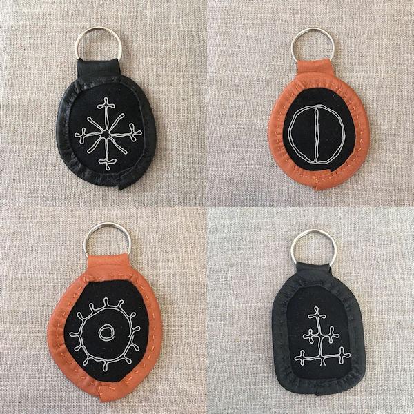 Reindeer Leather Keyfobs