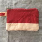 Red Reindeer Leather Clutch Purse