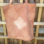 Natural Birch bark Dyed Cotton Tote Bag