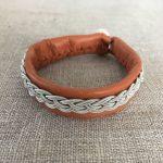 Sami Reindeer Leather and Pewter Bracelet
