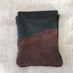 Salmon Skin Reindeer Leather Flex Frame Wallet