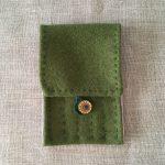 Green Wool Vadmal Naalbinding Needle Case