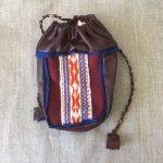 Red Vadmal Reindeer Leather Coffee Bag