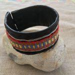 Sami Reindeer Leather Woven Arm Band