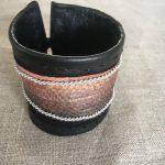 Fish Skin Reindeer Leather Bracelet Cuff