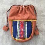 Blue Vadmal Reindeer Leather Coffee Bag