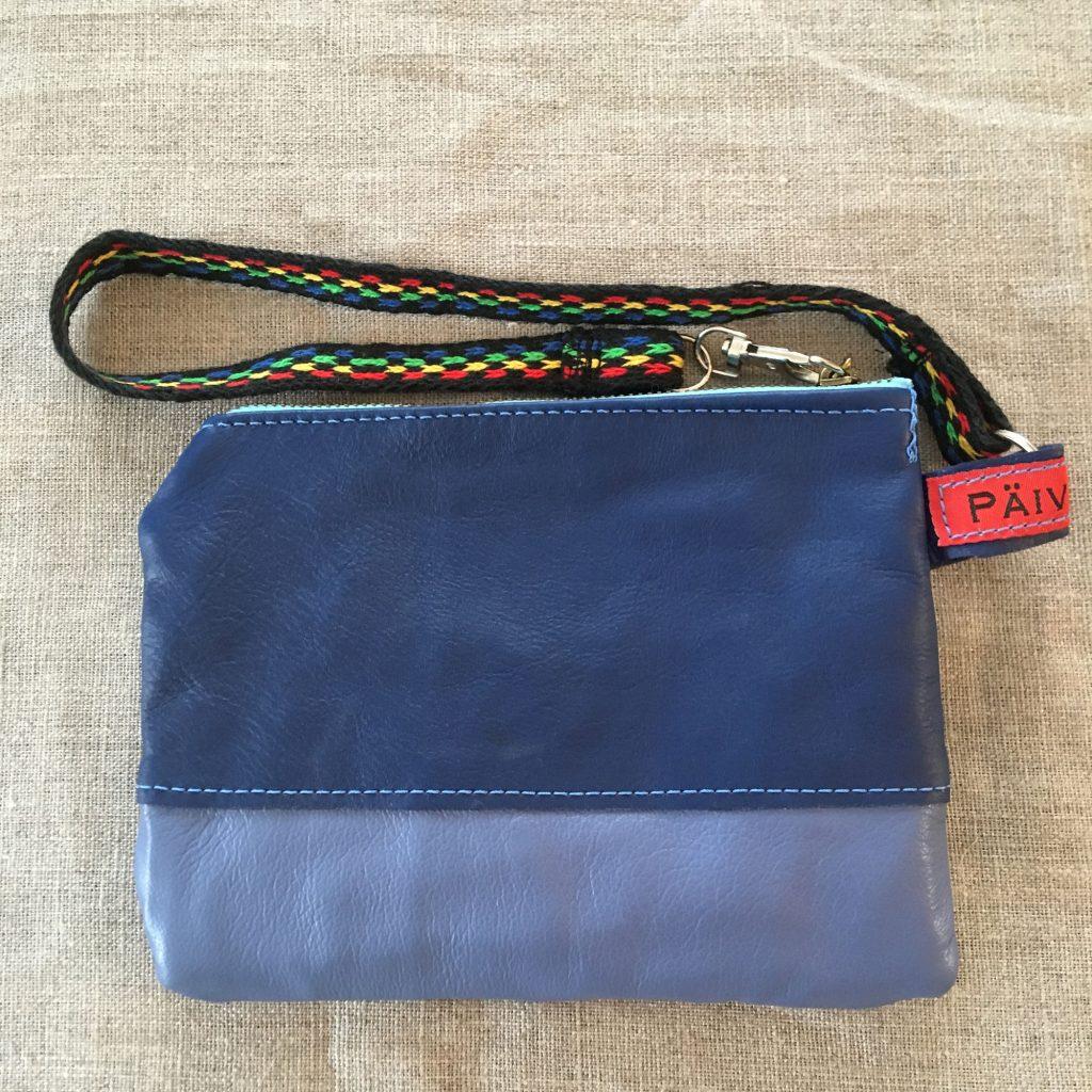 Blue Sami Reindeer Leather Clutch Purse