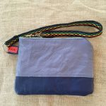 Blue Sami Reindeer Leather Clutch Purse
