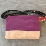 Purple / Tan Sami Reindeer Leather Clutch Purse