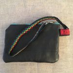 Rainbow Sami Reindeer Leather Clutch Purse