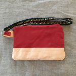 Red / Tan Sami Reindeer Leather Clutch Purse