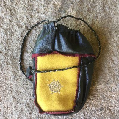 Sami Reindeer Leather Coffee Bag
