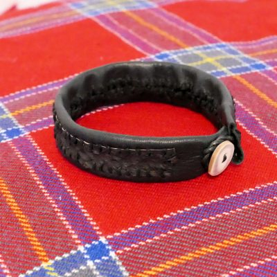 Salmon Leather Bracelet