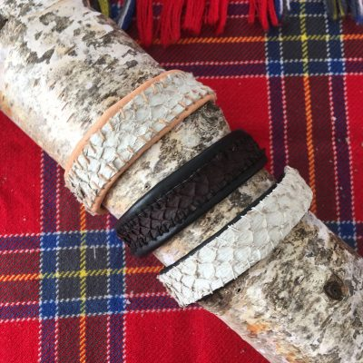 Perch Fish Leather Bracelets