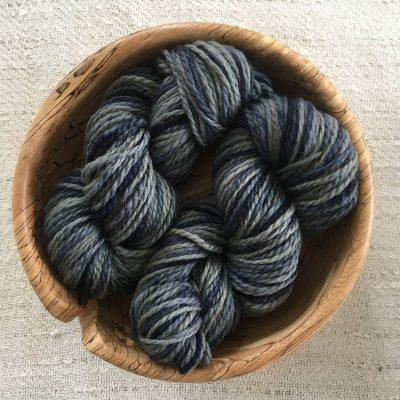 Aran BFL Wool Yarn Indigo