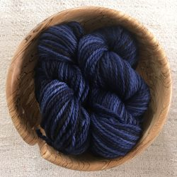 Aran BFL Wool Yarn Logwood blue