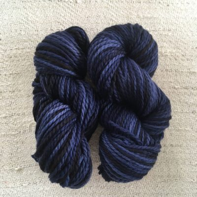 Aran BFL Wool Yarn Logwood Blue