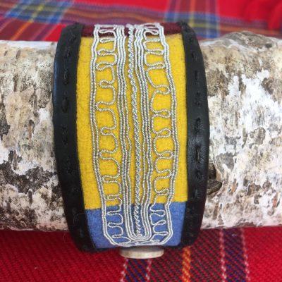 Sami Reindeer Leather Wool Vadmal Arm Band