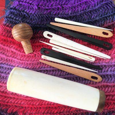 Carved Bone Nalbinding Needle Case