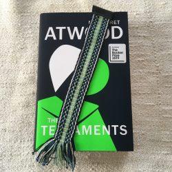 Handwoven Cotton Bookmark Green Blue Black