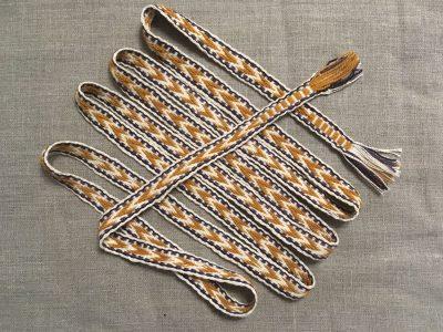 Sami Wool Cotton Belt Yellow White
