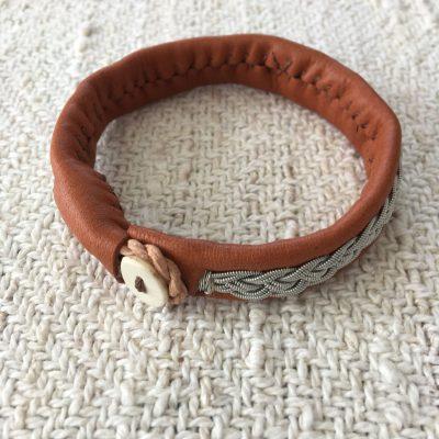 Sami Reindeer Leather Bracelet - Alder