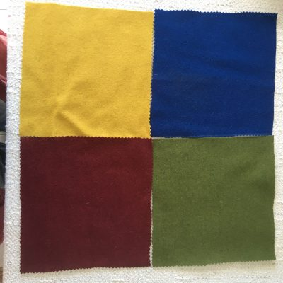 Vadmal Wool Felt Cloth - Red Green Yellow Blue