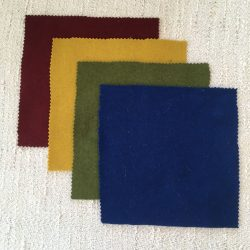 Vadmal Wool Felt Cloth - Red Green Yellow Blue