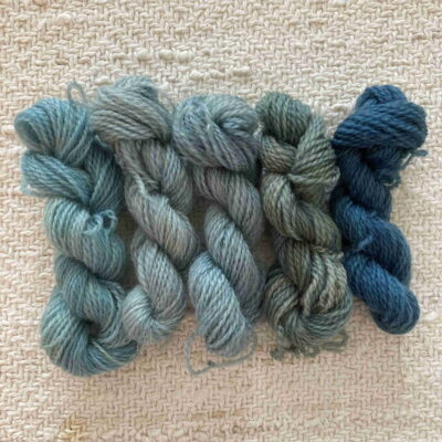 BLUES - Plant Dyed Crewel Wool