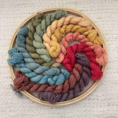 CREWEL Rainbow Yarn Kit