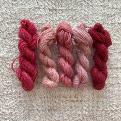 REDS- Plant Dyed Crewel Wool