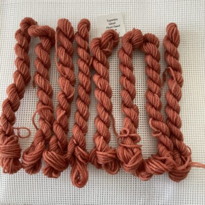 Red Madder- Plant Dyed Tapestry Wool