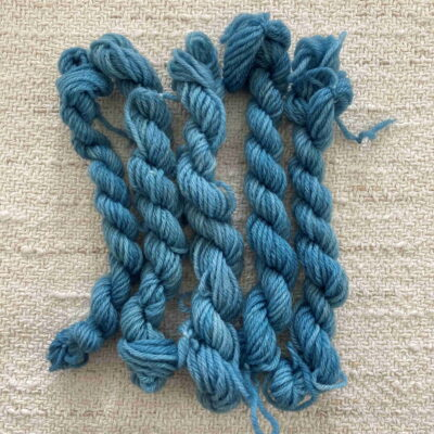 Blue Woad- Plant Dyed Tapestry Wool