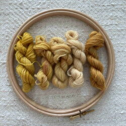 YELLOWS- Plant Dyed Crewel Wool