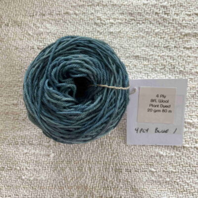 Blue - Plant dyed wool 4 ply fingering