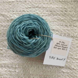 Blue - Plant dyed 4 ply tablet weaving wool yarn