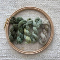 GREEN - Plant dyed Crewel wool