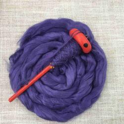 Bamboo Roving - Purple