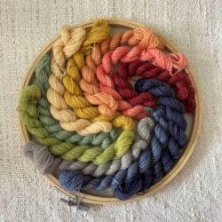 Rainbow - Plant Dyed Crewel Yarn Kit