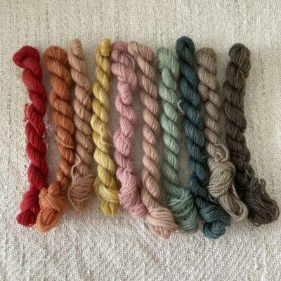 Rainbow - Plant Dyed Crewel Wool Kit