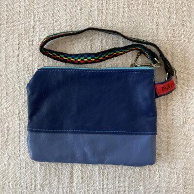 Blue Reindeer Leather Clutch Purse