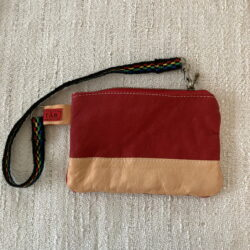 Red-Reindeer Leather Clutch Purse